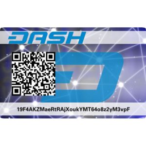 DashCoin DASH PVC Card wallet Vorderseite